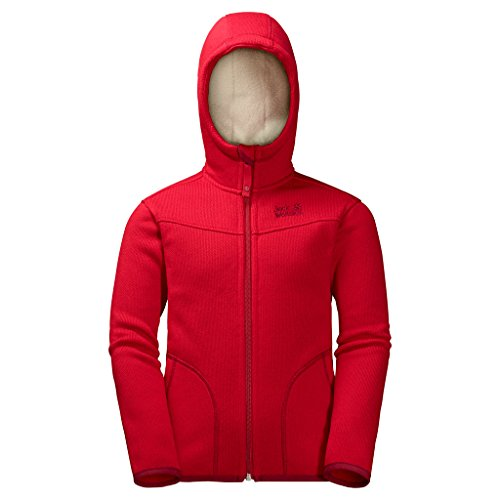 Preisvergleich Produktbild JACK WOLFSKIN Fleecejacke K NAVAJO VALLEY, ruby red, 128, 1606971-2505128