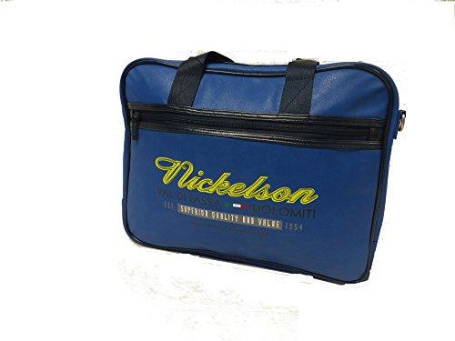 """""""Val Di Fassa"""" Nickelson Laptop-tasca-Blau Umhängetasche"""