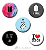 #2: Set of 5 - BTS Kpop & Kpop Merchandise - Kpop Pin Badge + Fridge Magnet (2 in 1) by PrintOctopus