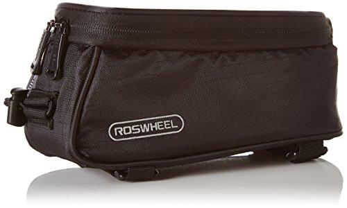 DCCN Fahrrad Rahmentasche Oberrohrtasche Fahrradtasche Handy Fahrrad Handy Tasche fuer Mountain Bike (passend bis zu 5,5 Zoll) mit klaren PVC-Schirm