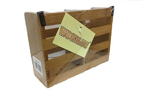woodluv Besteckhalter und Abtropfgestell aus Bambus, Mehrfarbig