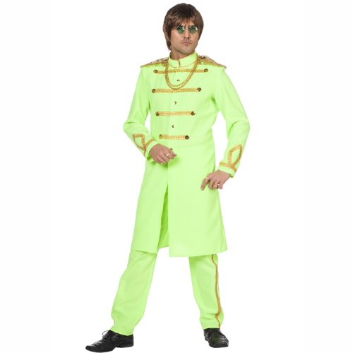 PARTY DISCOUNT NEU Herren-Kostüm SGT. Pepper, neon-grün Gr. 54-56