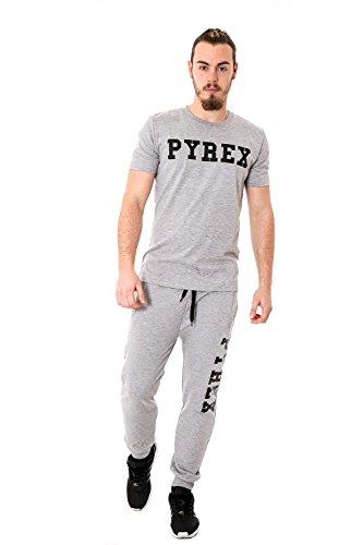 PYREX - Pantaloni unisex uomo donna con stampa regular fit 33004 Grigio