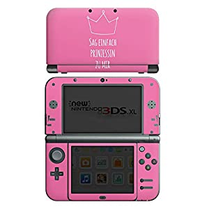 Skin kompatibel mit Nintendo New 3DS XL Aufkleber Sticker Folie Princess Prinzessin Maedchen