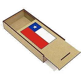 Azeeda 'Bandiera del Cile' Astuccio per matite in Legno (PC00018906)