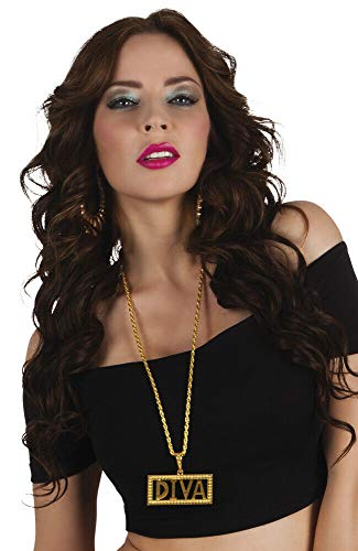 Unbekannt Halskette Diva VIP Gansta Für Erwachsene - vertrieb durch ABAV (Diva 64307)