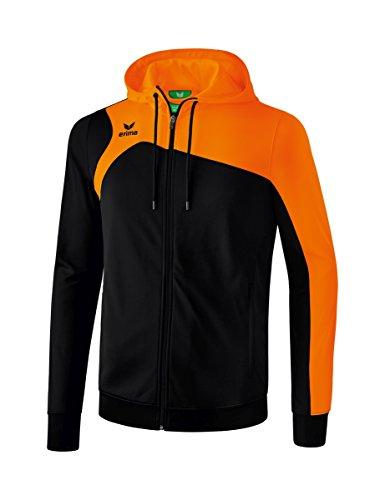 Erima Kinder Club 1900 2.0 Trainingsjacke, mit Kapuze, schwarz/orange, 116