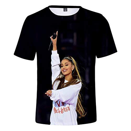 Mens Short Sleeve Oxford Shirt (MR.YATCLS Ariana Grande T-Shirt, Sommer-Polyester-T-Shirt, Kurzarm-T-Shirt Mit 3D-Druck, Unisex-T-Shirt, Fans Love)