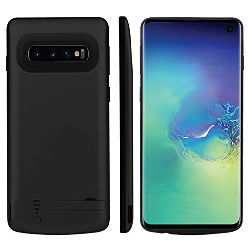 Samsung Galaxy S10 Plus Custodia Batteria, 5000mAh Ricaricabile Esterna Cover Caricabatterie di backup Batteria Power Bank Custodia Batteria Extended Extra Pack Antiurto Custodia Protettiva Nero
