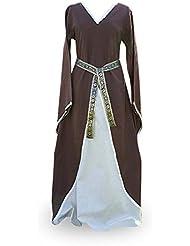 Role en vivo - Vestido medieval Merlyn - Marrón