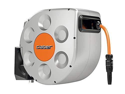 Claber avvolgitore rotoroll 20mt evolution 8696, grigio, arancione nero