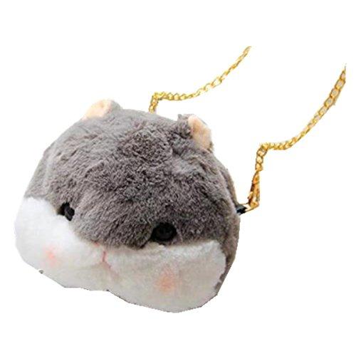 Netter Hamster-Kurierbeutel, Schulterbeutel, Feiertagsgeschenk Grau