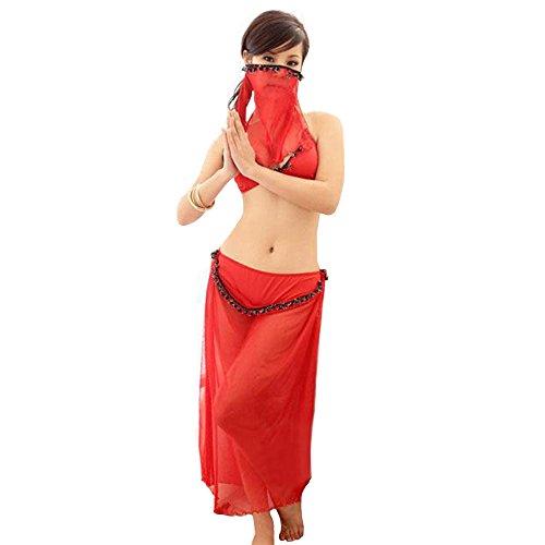 JYY Erotische Dessous Set Versuchung Transparente Pyjamas Cosplay Araber Masked Veil Bauchtanz Kleidung, Geeignet Für 40-70 Kg ()