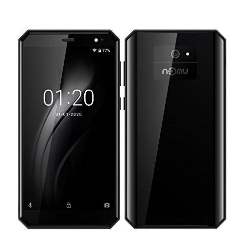 Nomu M6 Android 7.0 Smartphone 4G 5.0''HD IPS Gorilla Glas, Smartphone Barato Libre 1280 * 720 Pixel, Dual-Cámara 13MP + 5MP, Outdoor Smartphone 2 GB Ram + 16GM Rom, 1.5Ghz Quad Core Huella Datilar Dual Sim - Negro