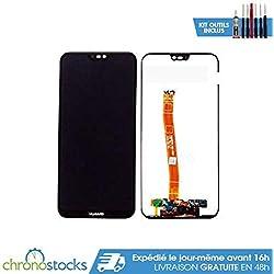 CHRONOSTOCKS Vitre Tactile Ecran LCD pour Huawei P20 Lite Noir ALE-LX1 avec Outils et Colle
