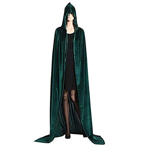PIOM Halloween-Mantel-Erwachsen-Mann-und Frauen-Vampirs-mit Kapuze Mantel-Kostüm- Army - Green Mann Kostüm Party Stadt