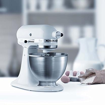 Kitchenaid-5KSM45EWH-SerieClassic-Kchenmaschine-inkl-Ausgieer-oder-Spritzschutz-wei