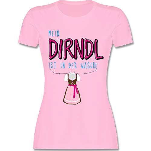 Oktoberfest Damen - Mein Dirndl ist in der Wäsche - M - Rosa - L191 - Damen Tshirt und Frauen T-Shirt