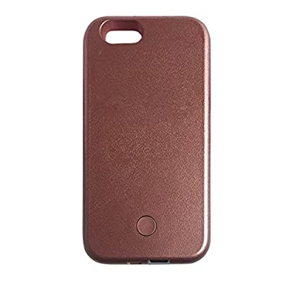 AMAZING LED Light Up Selfie Case for iPhone 6 and 6S - USB Rechargeable (Rose Gold) - cheap UK light store.