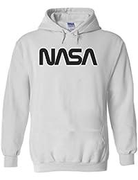 Nasa Retro Vintage Old Space Man Novelty White Men Women Unisex Hooded  Sweatshirt Hoodie ea112b0d0030