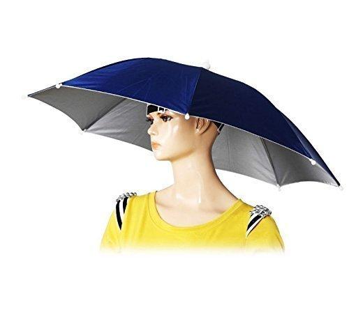 sprecheinrichtung Tragbare 55 cm Nützliche Regenschirm Hut Sonnenschutz Camping Angeln Wandern Festivals Outdoor Brolly Farbe Nach Dem Zufall (Angel Halloween-outfits)
