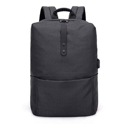 Cloom zaino, zaino per pc moda multifunzionale antifurto zaino alta capacità borsa del portatile con usb laptop portatile backpack casual impermeabile unisex per la scuola (nero,1pc)