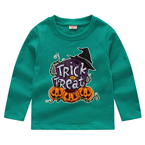 Jaysis Kleinkind Kürbis Sweatshirt Halloween Pullover Oberteile T-Shirt Junge Babybekleidung Geburtstag Halloween Faschingskostüm Festkleid Fancy Dress Up