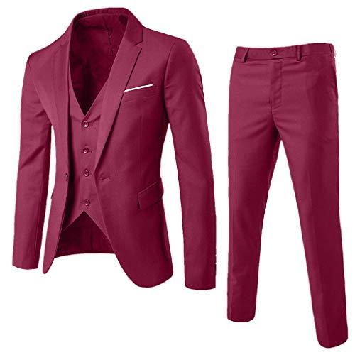 Pantaloni Slim Fit Abiti Uomo Elegante Classico per Festa Cerimonia Matrimonio Affari Abiti Uomo Completo Due Pezzi Set Giacche Doppio Petto Mambain Blazer Uomo Doppio Petto