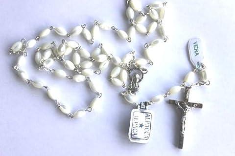 Ovale nacre croix Small n smart Chapelet à perles Argenté