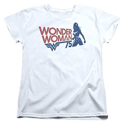 Wonder Woman Ww75 Silhouette Womens Short Sleeve Shirt