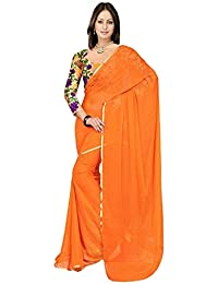 Roop Sangam Chiffon Saree (Terei19_Orange)