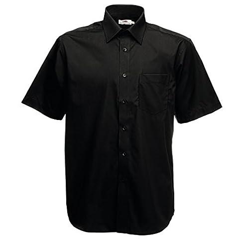 MAKZ Fruit of the Loom Men's Short Sleeve Poplin Shirt free shipping