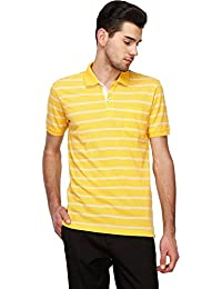 STOP to start STOP by Shoppers Stop Mens Stripe Polo T Shirt