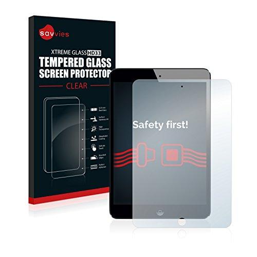 Savvies Panzerglas für Apple iPad Mini 2 9H Echtglas Schutzfolie (1 Fall Ipad Mini)