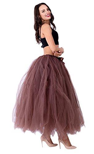 Honeystore Damen's Rock Tutu Tuturock Tütü Petticoat Tüllrock mit Gummizug für Karneval, Party und Hochzeit Braun One (Kostüme Von Ballett Bedeutung)