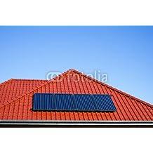 Paneles solares para agua caliente de techo de metal en colour rojo (79450994),