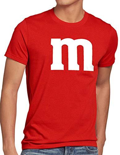 Kostüm Party Paar - style3 m Herren T-Shirt für Fasching und Karneval Gruppen-Kostüm Paar-Verkleidung JGA Party, Größe:XL, Farbe:Rot