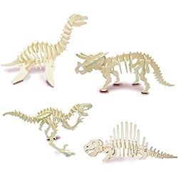 Conjunto de los dinosaurios 3 - QUAY de artesanía en madera Kit de construcción FSC