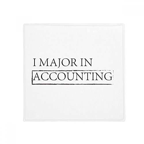 DIYthinker Zitat I Major in Accounting Anti-Rutsch Boden Pet Matte quadratisch Home Kitchen Tür 80 cm Geschenk