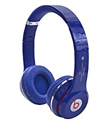 Defloc S460 BLUETOOTH WIRED & WIRELESS HEADPHONES WITH TF CARD/MIC/FM SUPPORT - Blue