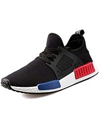 Modelos de explosión de Verano Zapatillas Deportivas de Malla Zapatillas de Deporte de los Hombres Ligeros Hombres Coreanos Trend Trend Men Casual Shoes - Negro 42