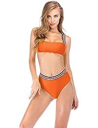 1db4d4f59840 Women s Removable Strap Wrap Pad Cheeky High Waist Bikini Set Swimsuit