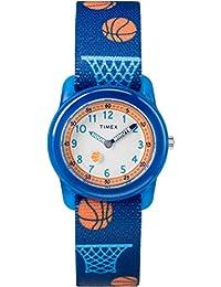 Timex TW7C16800 Jungen-Armbanduhr mit Quarz-Uhrwerk, Analoganzeige und Textil-Uhrenband.
