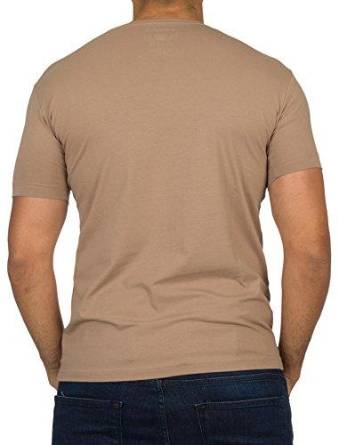 Herren T-Shirt Young & Rich Slimfit Tiefer V-Ausschnitt Deep in verschiedenen Farben und Übergrößen Vizon