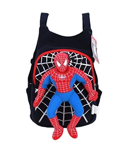 DS WUNDERBARER 3D Rucksack Spiderman *SCHWARZ* KIGA (Schwarz Man Spider)