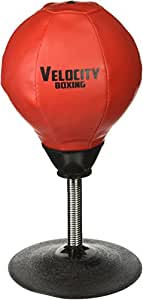 Velocity Boxing Stress Reliever Desktop Speed Punching Ball w/ Pump, Needle, Heavy Duty Suction Cup & Spring