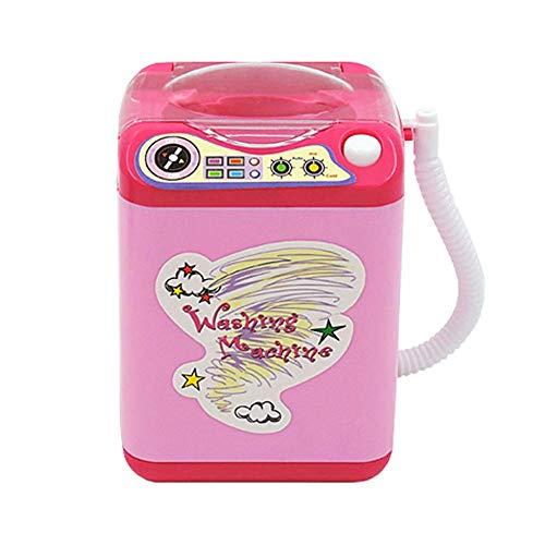 0Miaxudh Waschmaschine Spielzeug, Mini Make-up Pinselreiniger, automatische