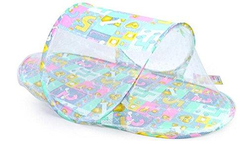 JUNGEN Cuna portátil plegable con Mosquitera para Bebés de 0 - 3 años para Tienda de campaña Viaje o Playa 110 * 60 * 38CM