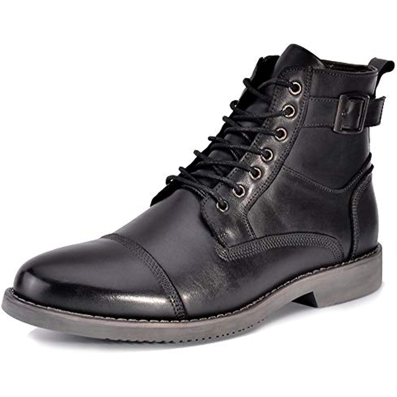 WDYY Chaussures pour Hommes Haut en Cuir Bottes Et en Cuir Européennes Et Bottes Américaines - B07H5KNDRV - 6717ef
