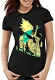 style3 VII Fantasy Battle T-Shirt Femme Avalanche Sephiroth PS iOS Japon, Taille:S